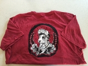 True Fit Tattoo Limited Collection Unisex Red Crew Neck T-Shirt