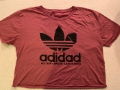 Ladies ADIDAD Crop Top - Paprika